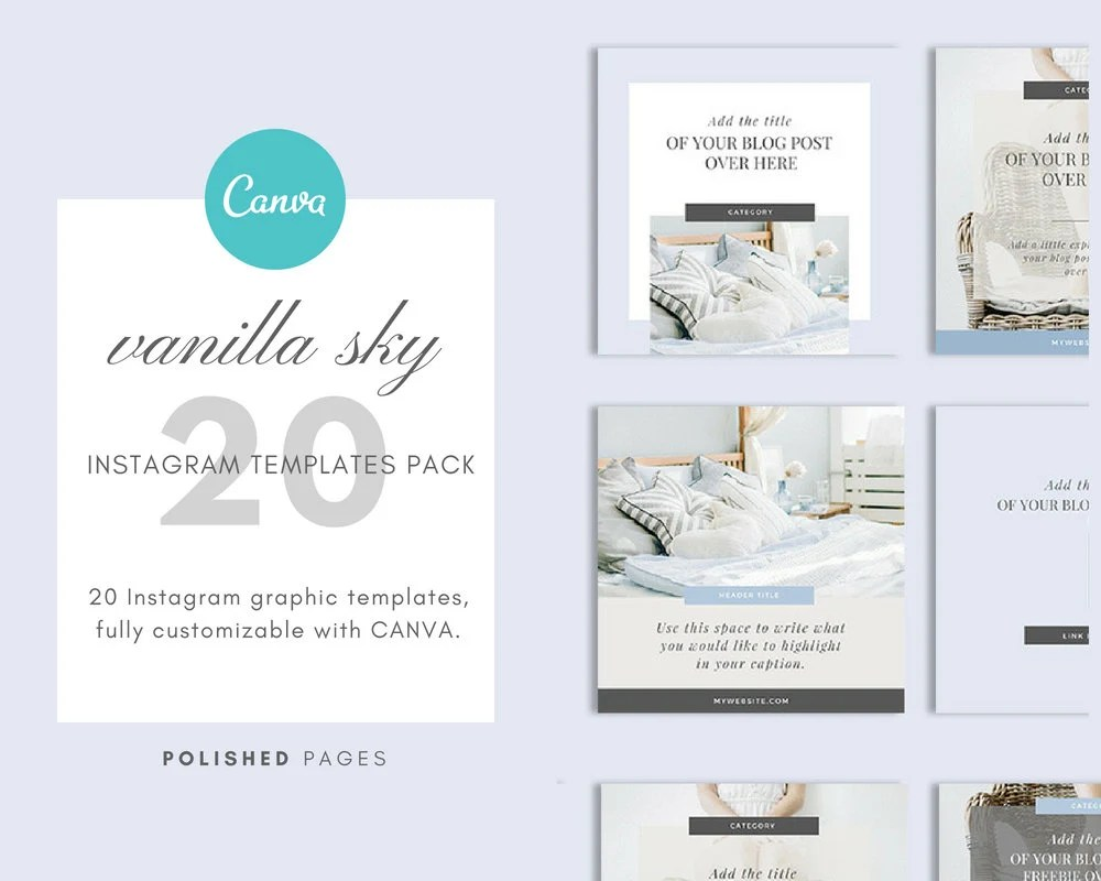 Canva Instagram Feed Templates Instagram Graphics Social Etsy