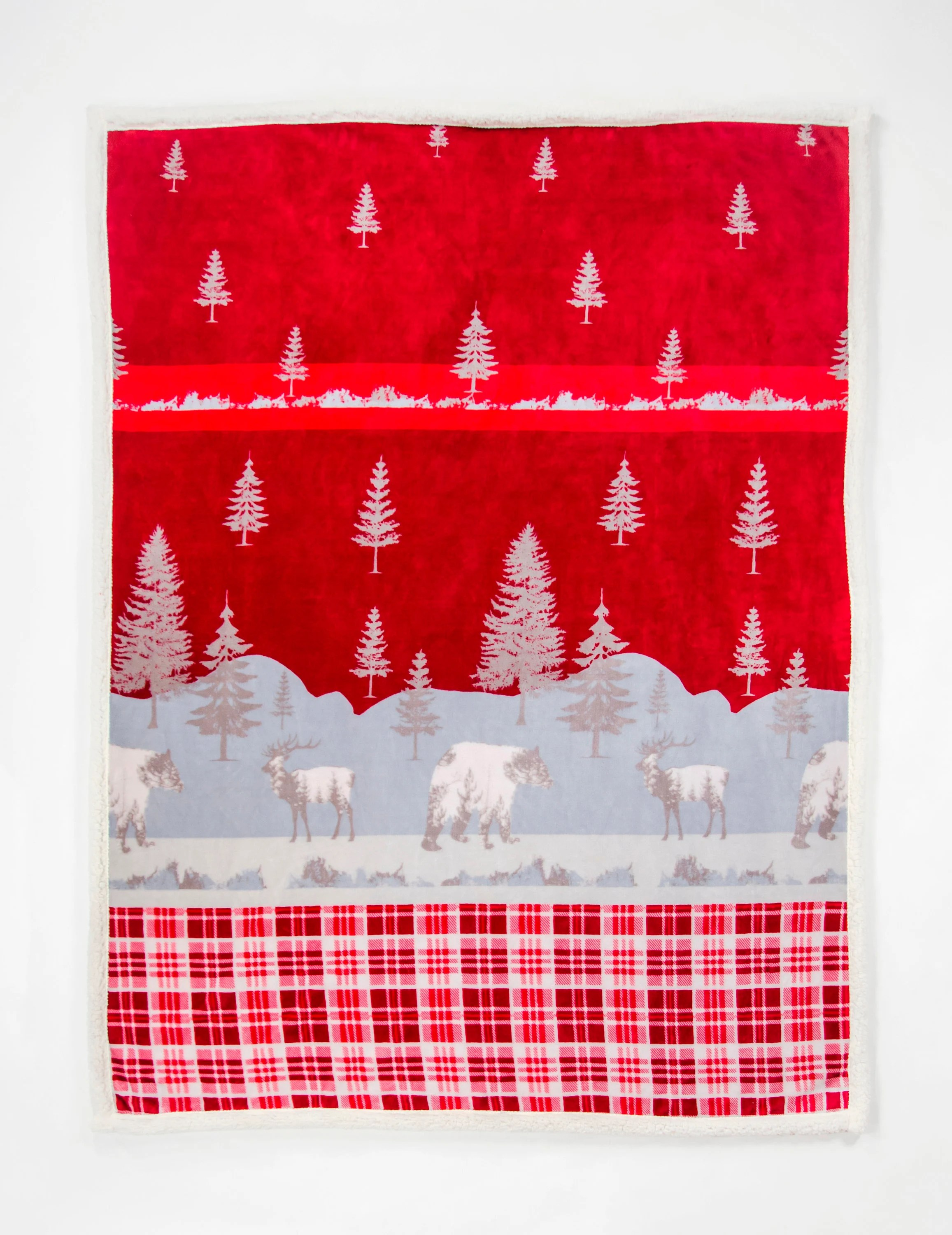 Location Decoration Rennes Daunex Scaldotto Plaid Morbidotto Rennes Cat Mis 130 X 160 Christmas Gift Idea Red Blanket