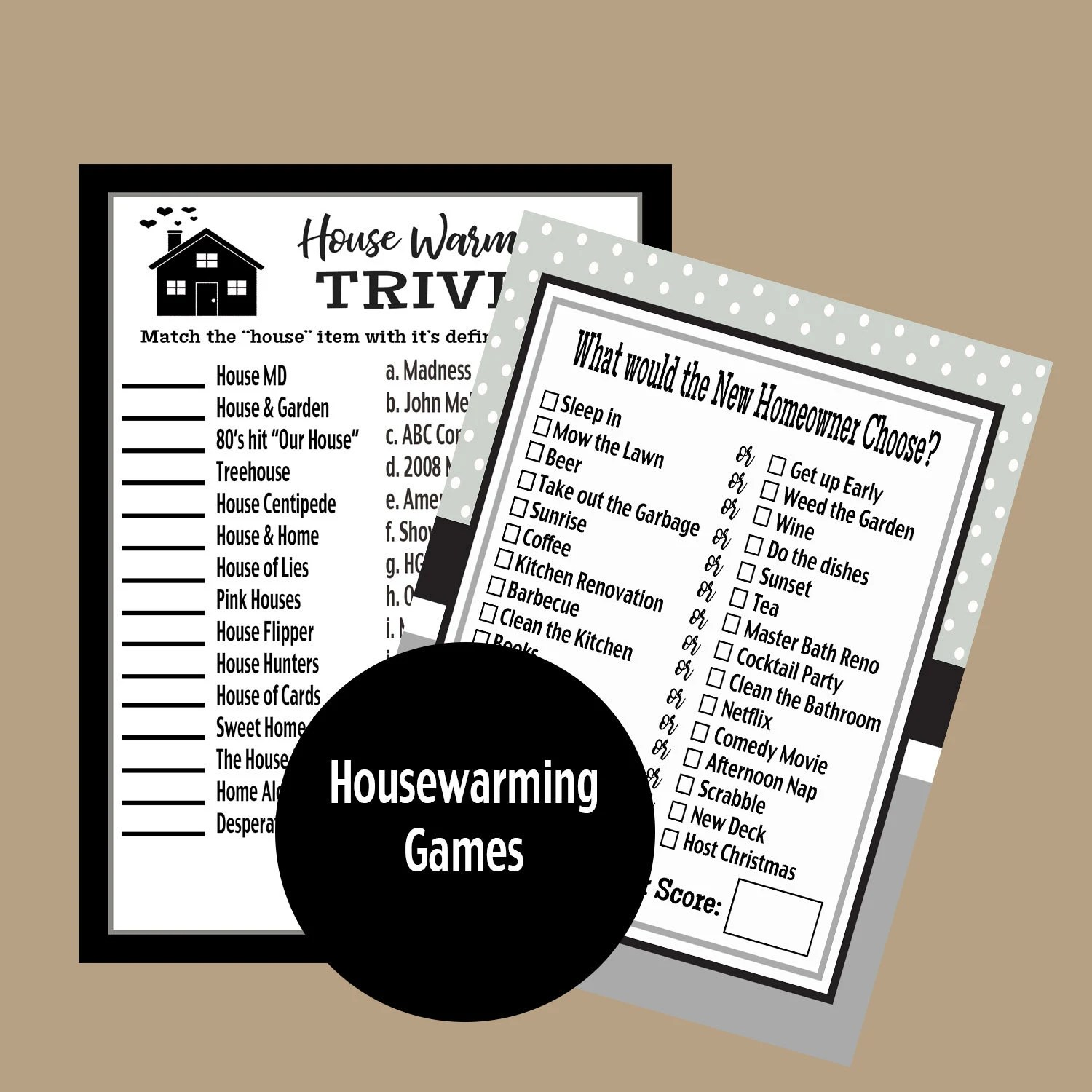 Housewarming Party Trivia Games Housewarming Party New Home Etsy