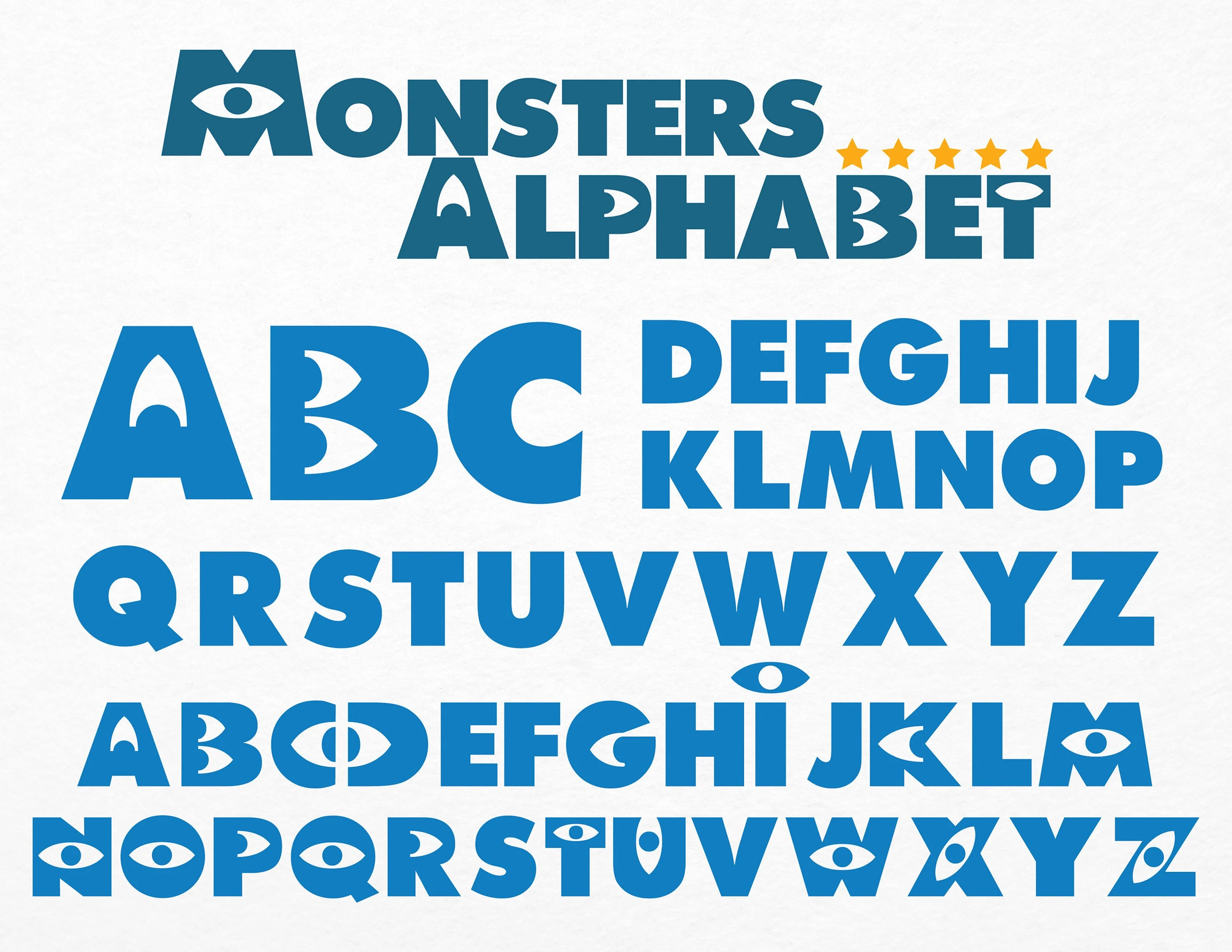 Monsters Inc Alphabet SVG Clip Arts Monsters Inc Letters Etsy