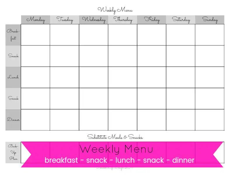 Weekly Meal Planner Weekly Meal Plan Printable Weekly Meal Etsy