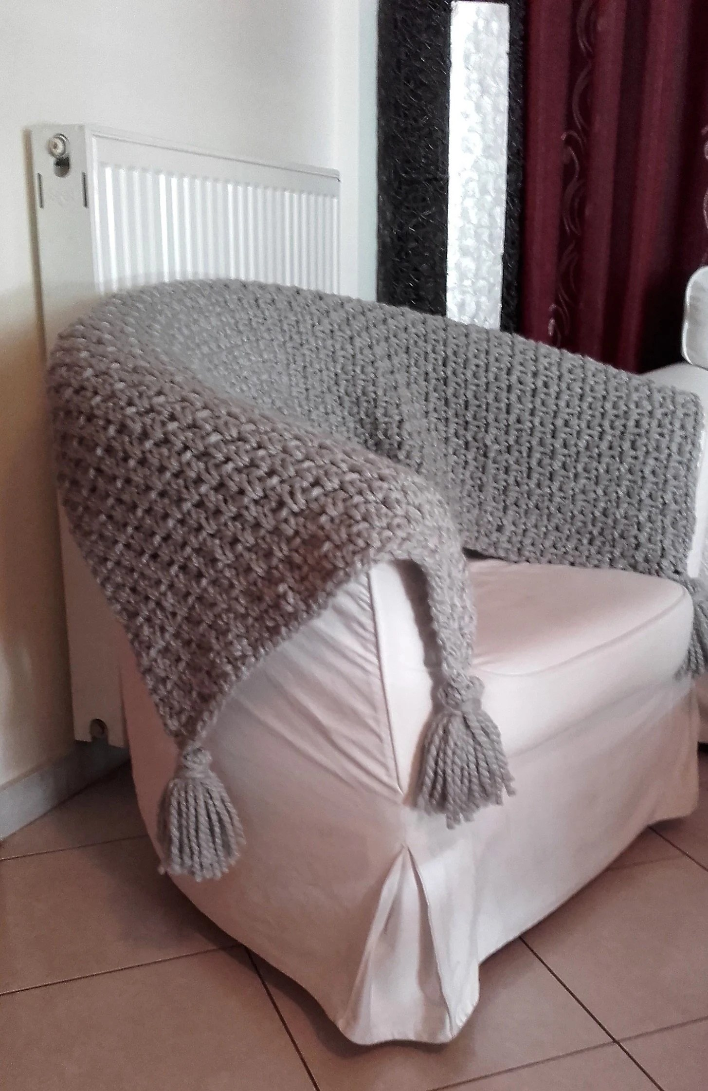 Sofa Throws Knitted Chunky Knit Throw Blanket Sofa Throw With Tassels Boho Bedding Couch Bed Cover Wool Crochet Throw Hand Knit Throw Blanket Dorm Decor