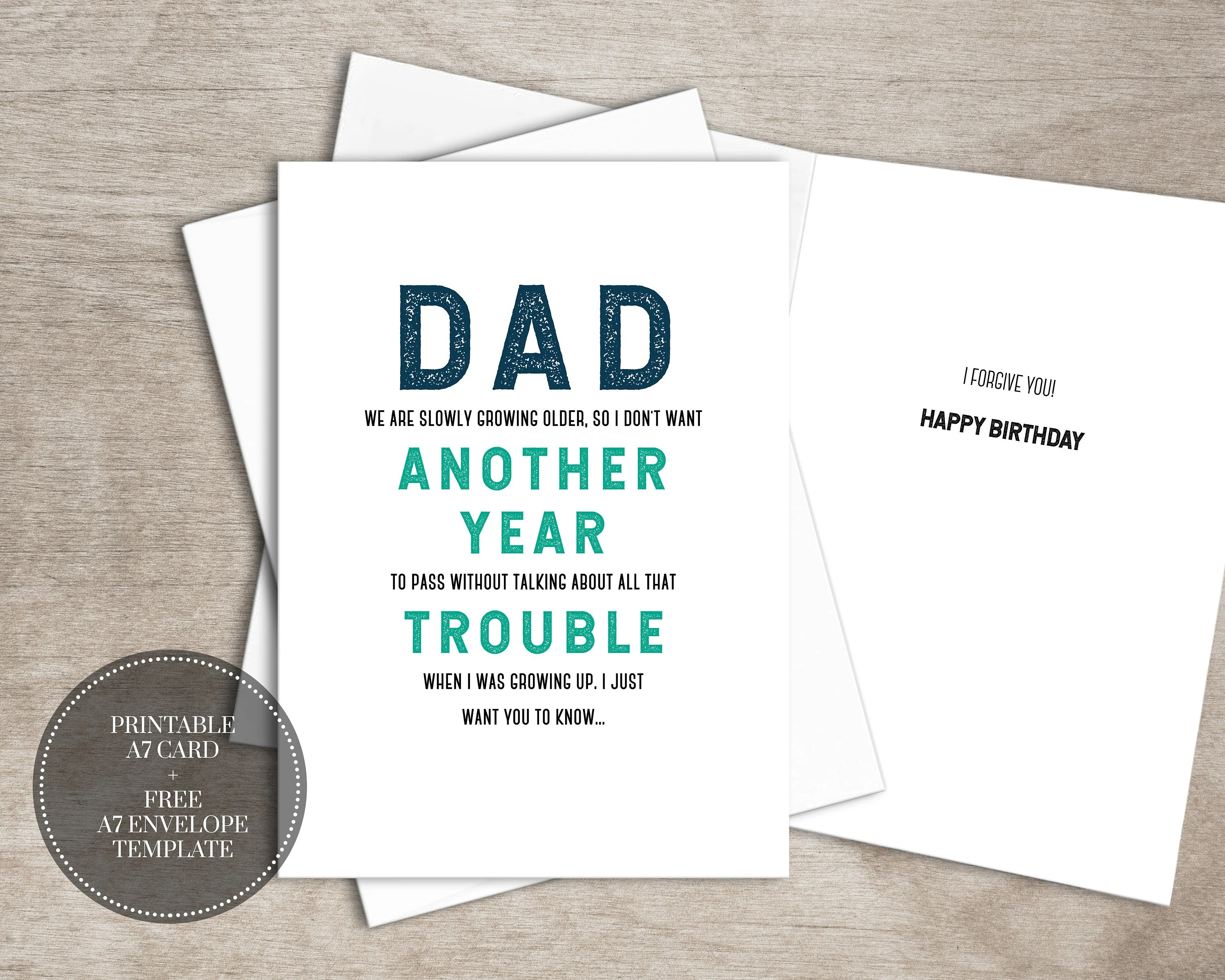PRINTABLE Funny Birthday Card INSTANT DOWNLOAD Digital Etsy