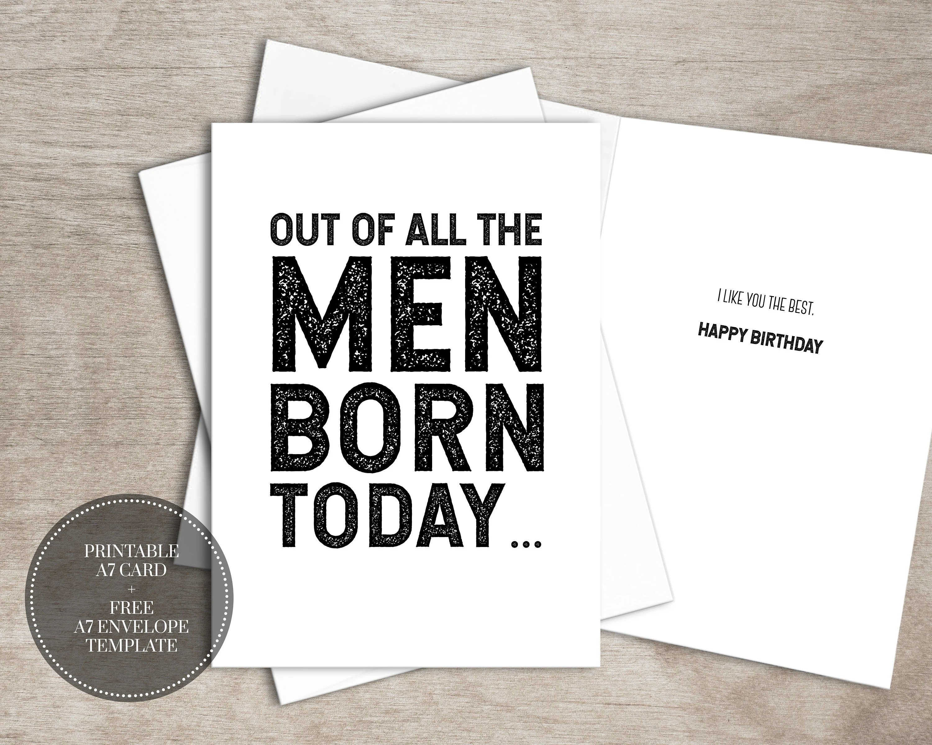 PRINTABLE Funny Birthday Card INSTANT DOWNLOAD Birthday Cards Etsy