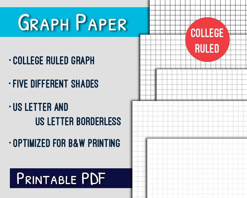 Graph Paper PrintableCollege Ruled Letter Graph Paper - Print College Ruled Paper