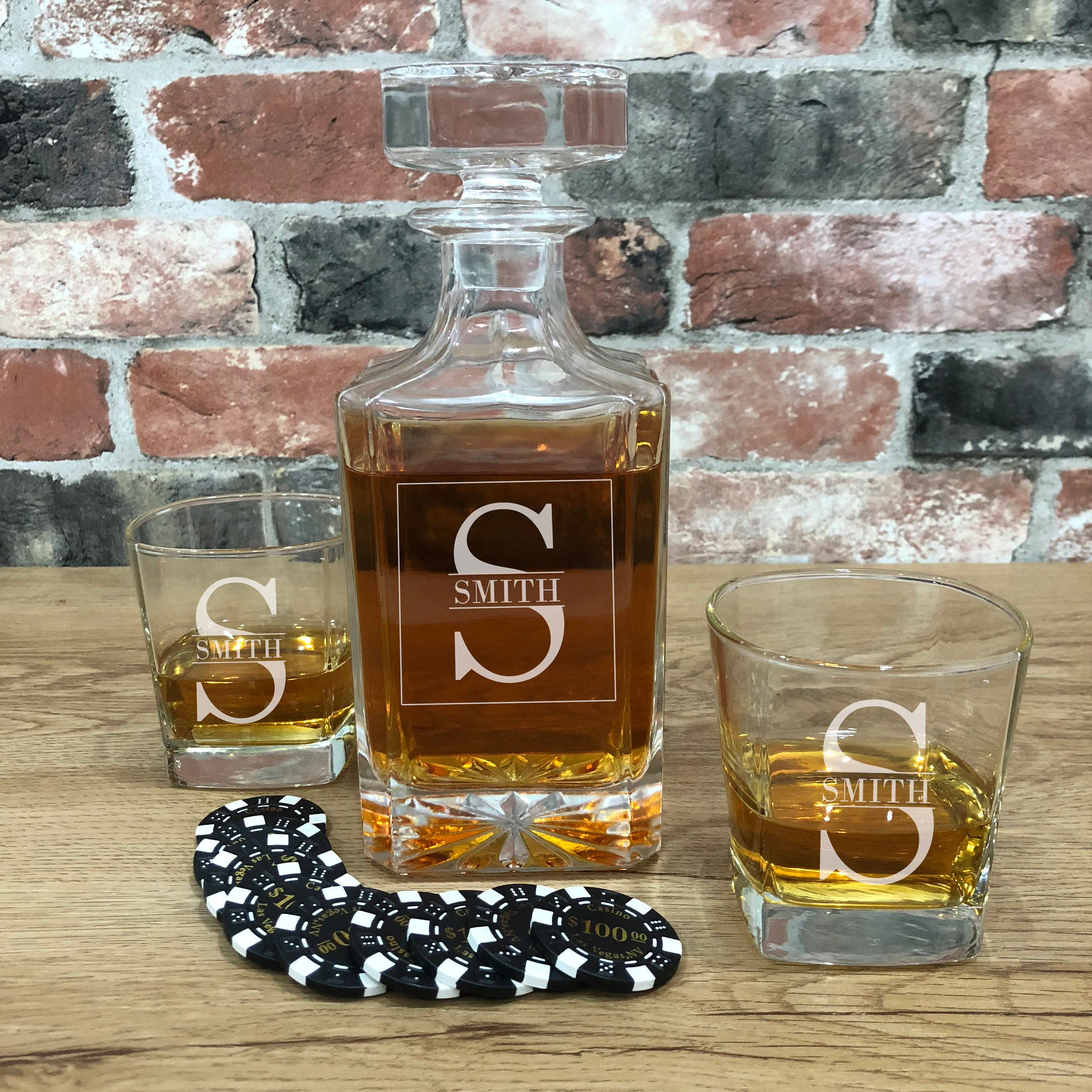 Whiskey Set Whiskey Decanter Set Groomsmen Decanter Customized Decanter Decanter Set Whiskey Glasses Whiskey Gift Whiskey Set