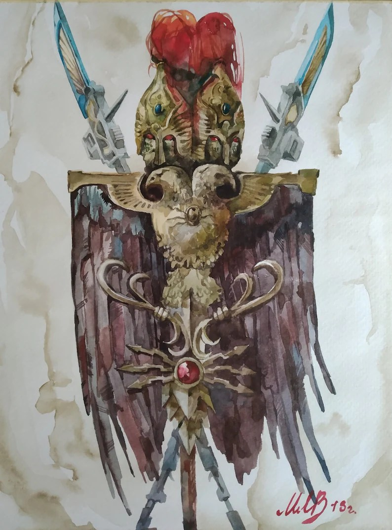 Peindre Decor Warhammer Warhammer 40000 Adeptus Custodes Watercolor Art