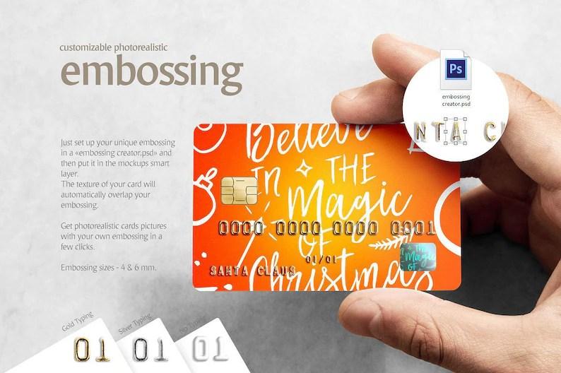Plastic Card CREATOR Credit Card Mockup Gift Card Mock up Etsy