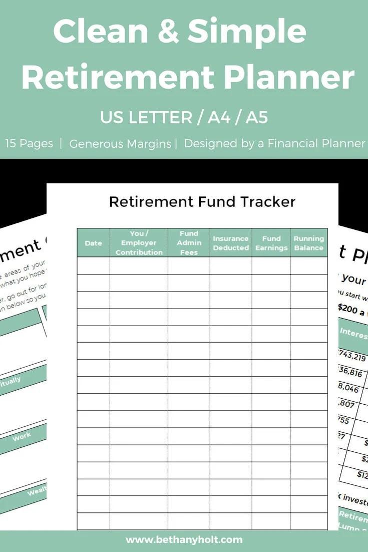 Retirement Planner Planner Retirement Retirement Budget Etsy