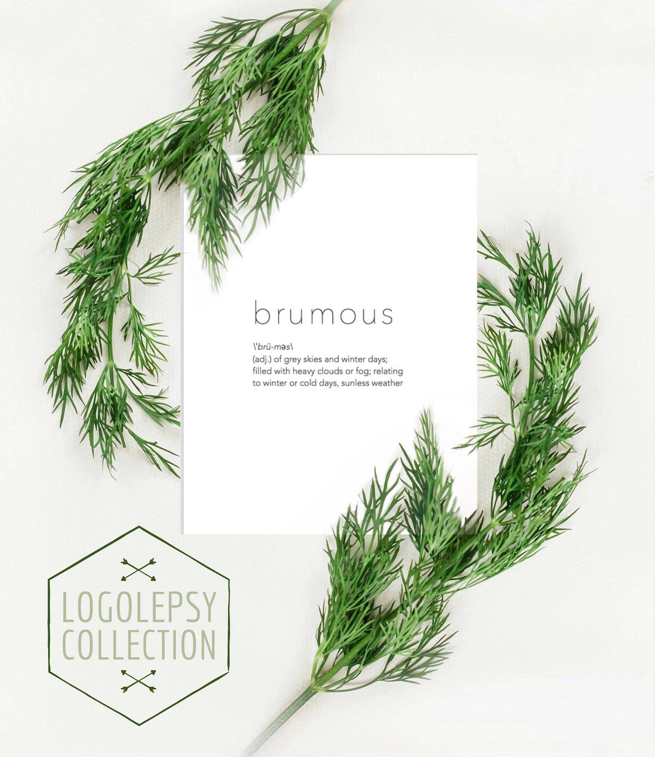Brumous word definition PRINTABLE art Logolepsy Collection Etsy