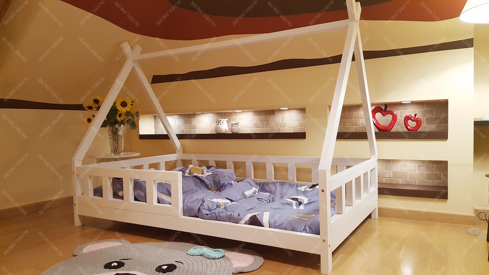 Tipi Bett 120x200 Tipi Bed For Children Kids Bed Play Bed Children Bed House Indian Tent Wood