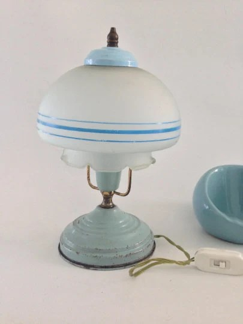 Vintage Lampe Champignon Lampe Vintage Vintage Lampe Lampe Champignon En  Métal Lampe De Bureau Lampe De Chevet Lampe Champignon Lampe Pop Art