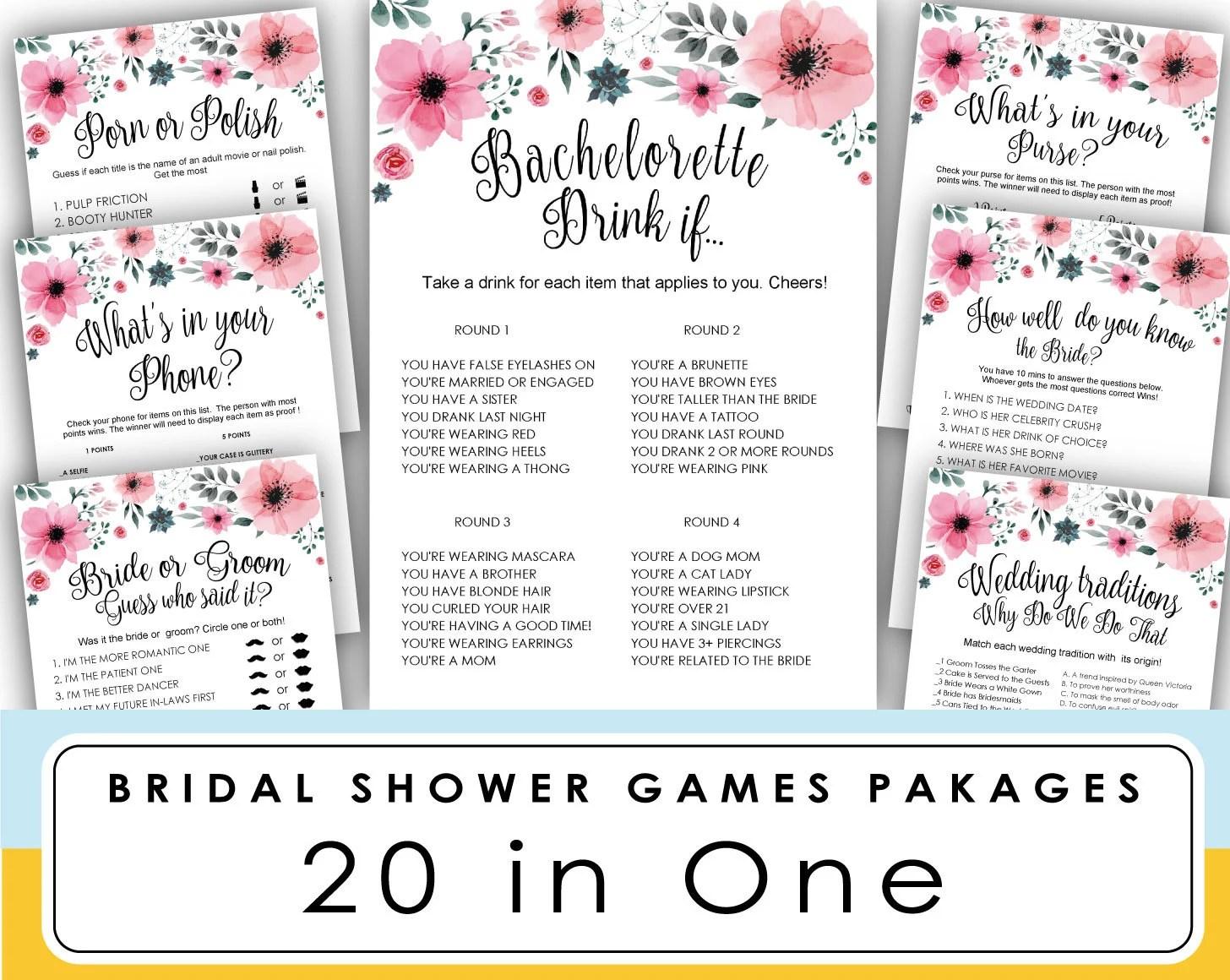 Printable Bachelorette Games towelbars