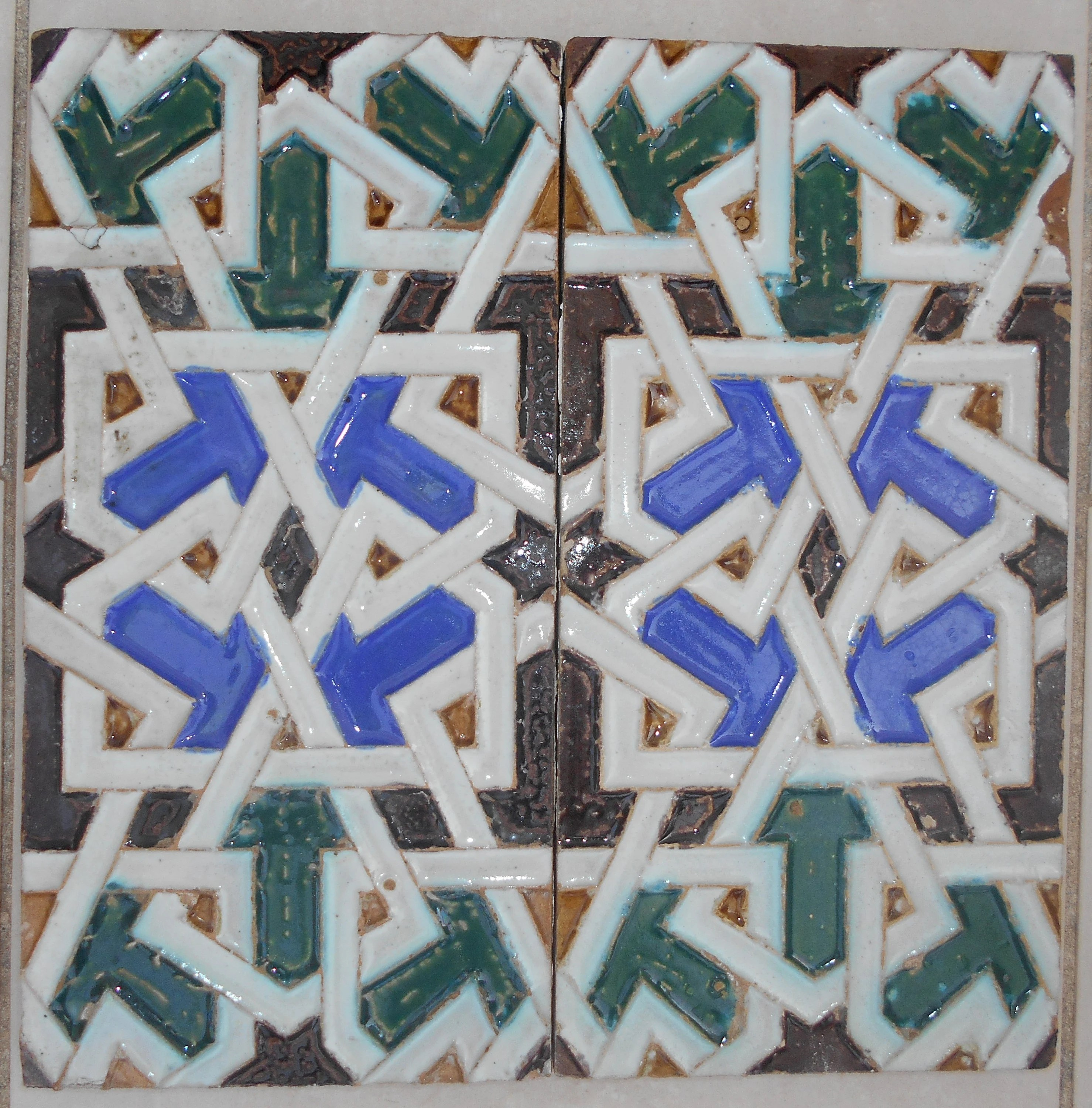 Azulejos Sevilla Pair 2 Azulejos Tiles Antique Spain 19th Century Seville Sevilla Spain Antique Spanish Tiles