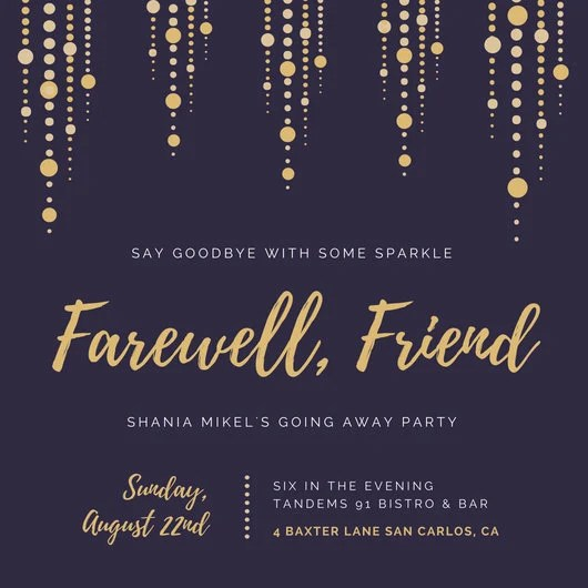 Farewell invitation download farewell invitation template Etsy