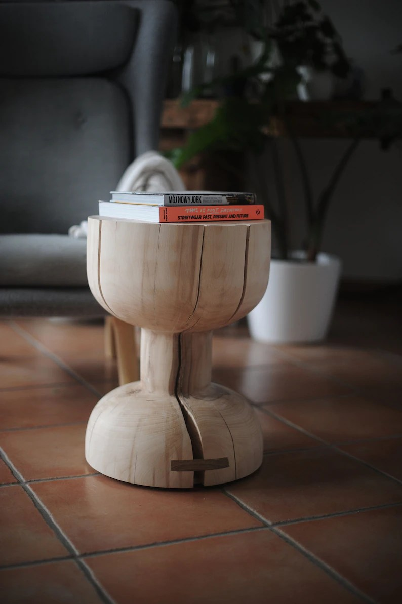 Couchtisch Oak Wood Table Round Table Holztisch Couchtisch Side Table Oak Table Coffee Table End Table
