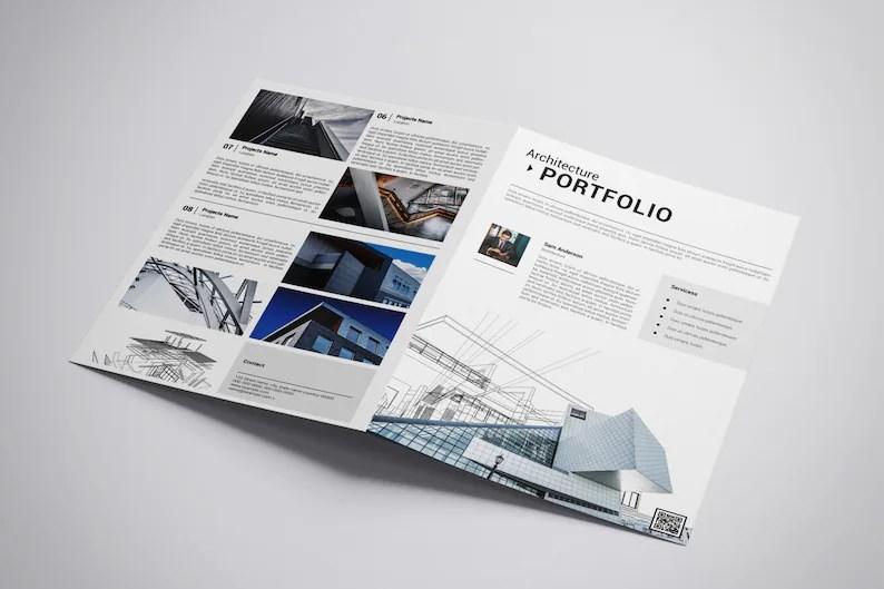 Printable Atchitectural Portfolio Brochure Template Etsy