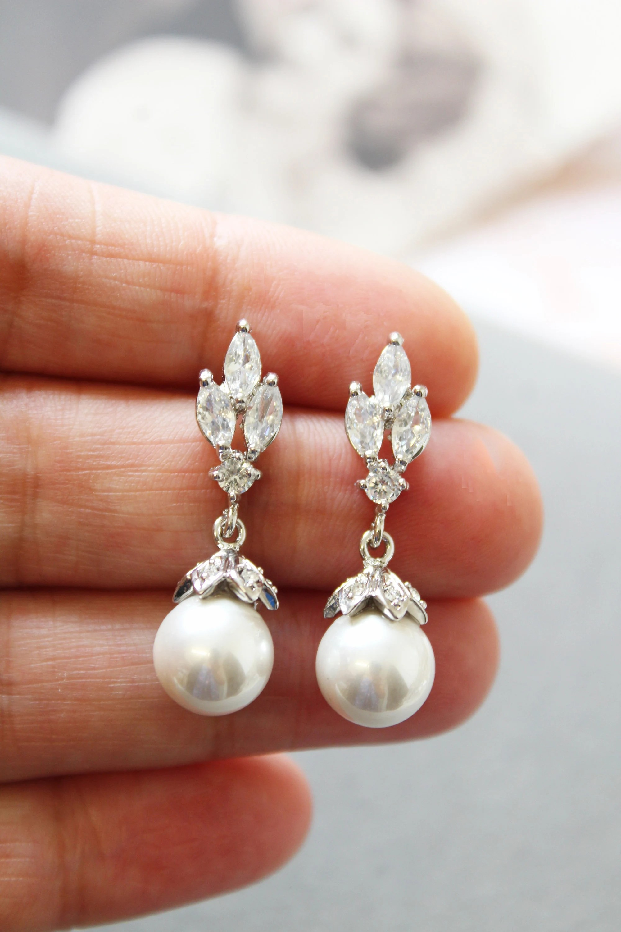Art Deco Style Earrings Uk Bridal Earrings Art Deco Earrings Bridesmaid Earrings Pearl Earrings Wedding Jewelry Dangle Wedding Earrings Uk