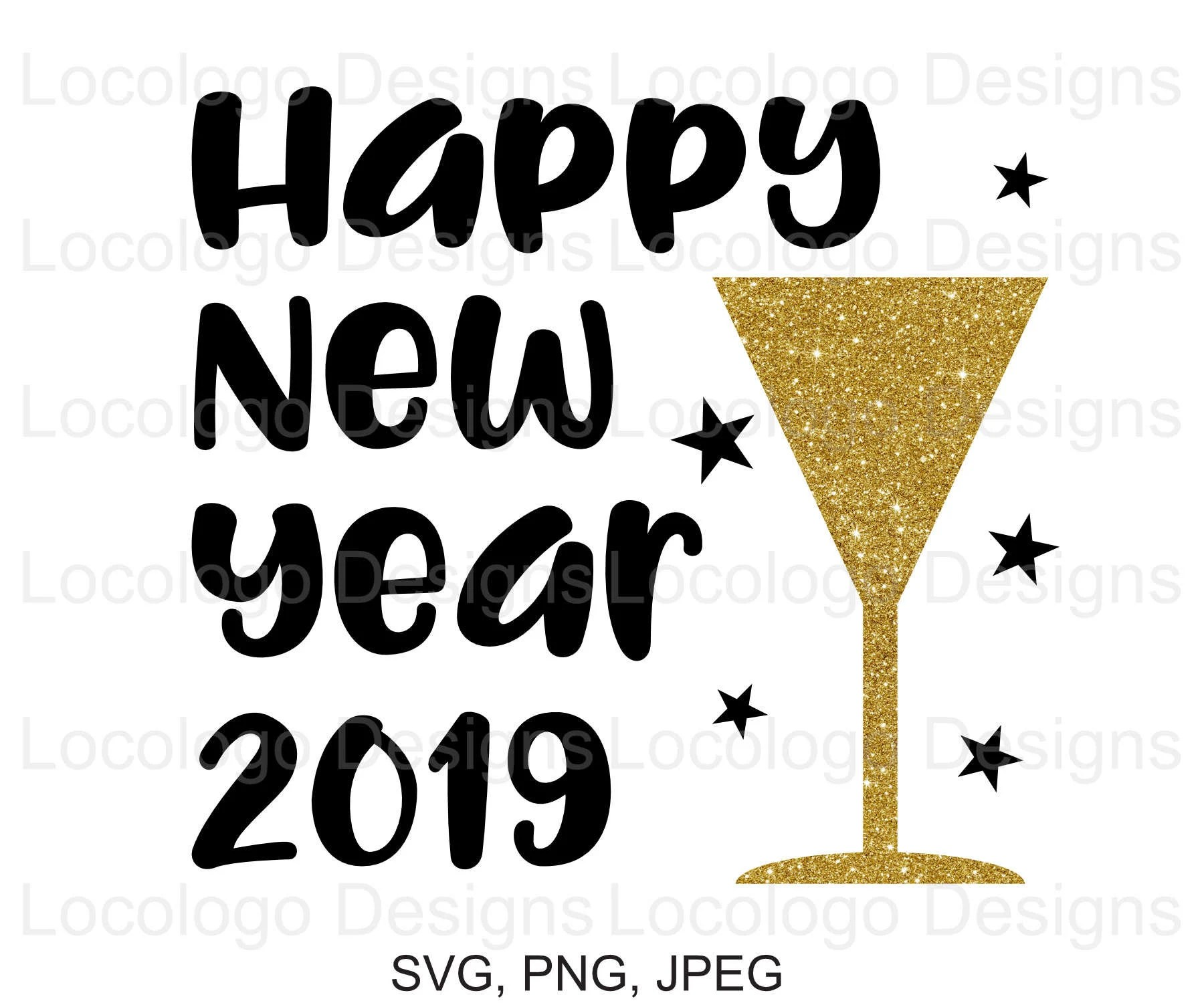 happy new year 2019 svg 2019 svg new year svg 2019 svg etsy new year