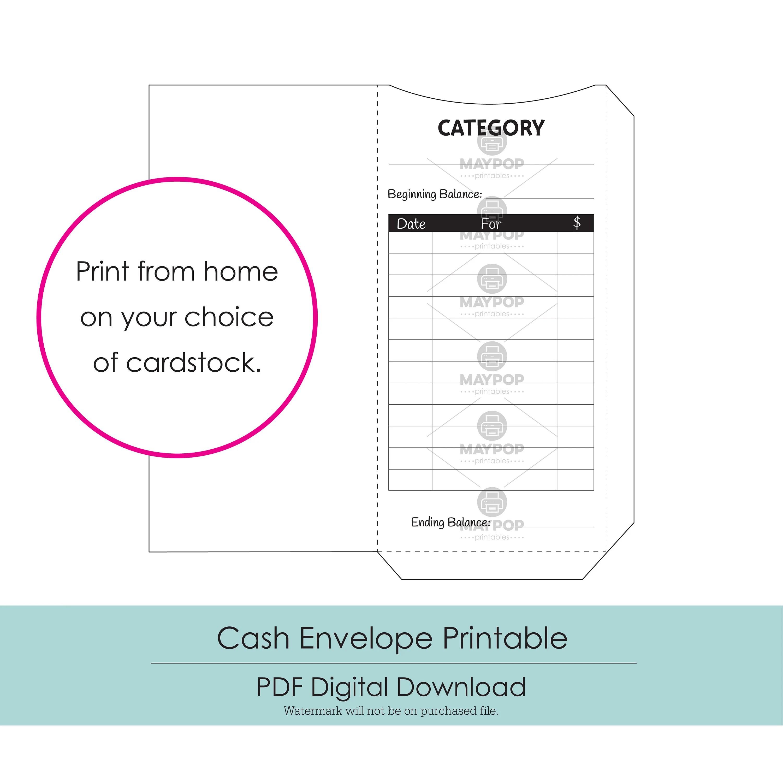 Cash Envelopes Printable Instant Download Etsy