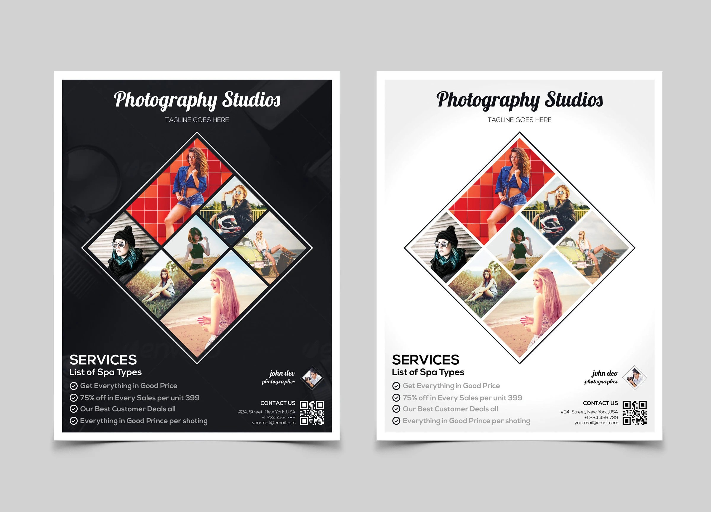 Photography Flyer Template Marketing Flyer for Professional Etsy