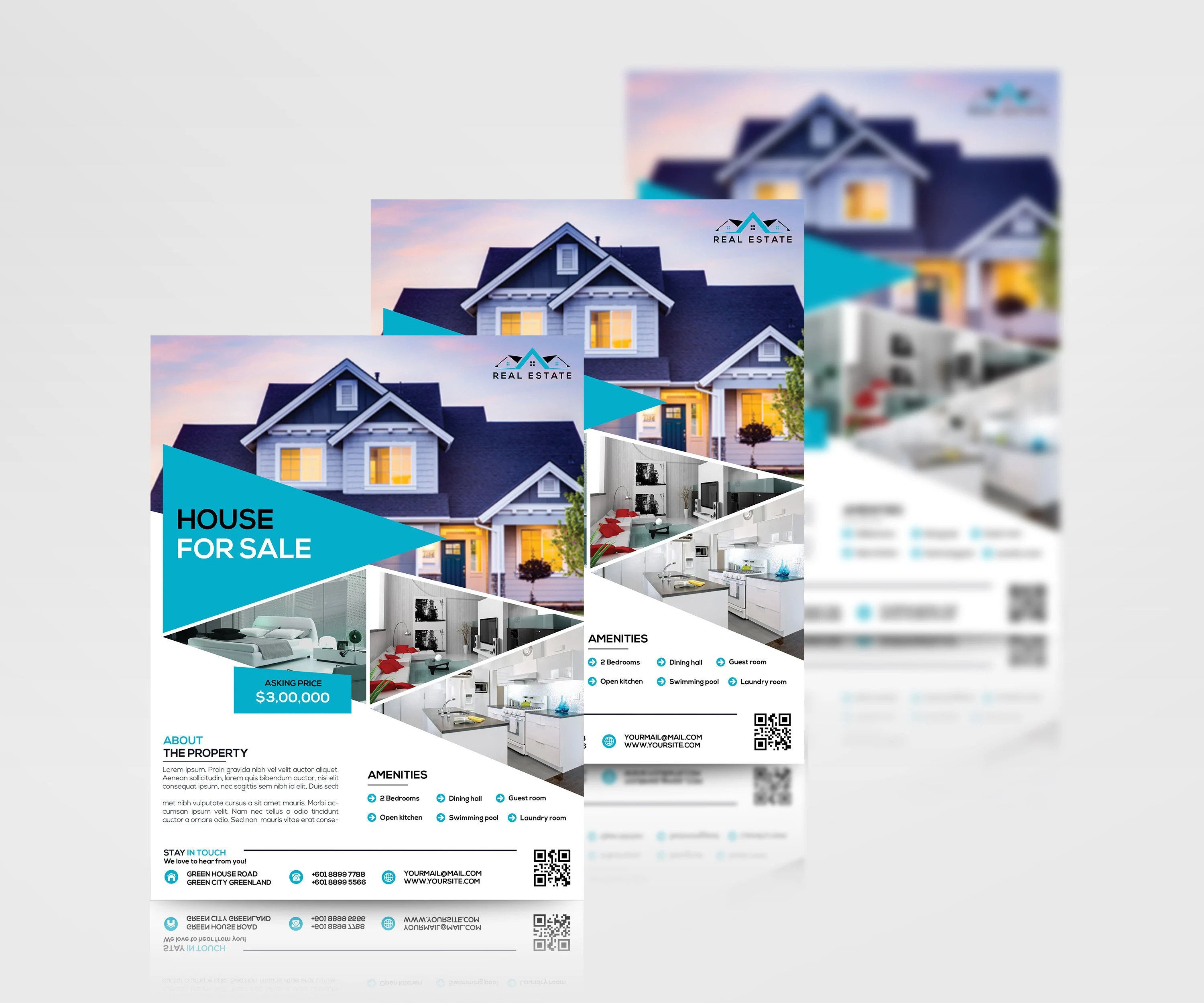 Real Estate Flyer Template Home Sale Marketing Flyer Etsy