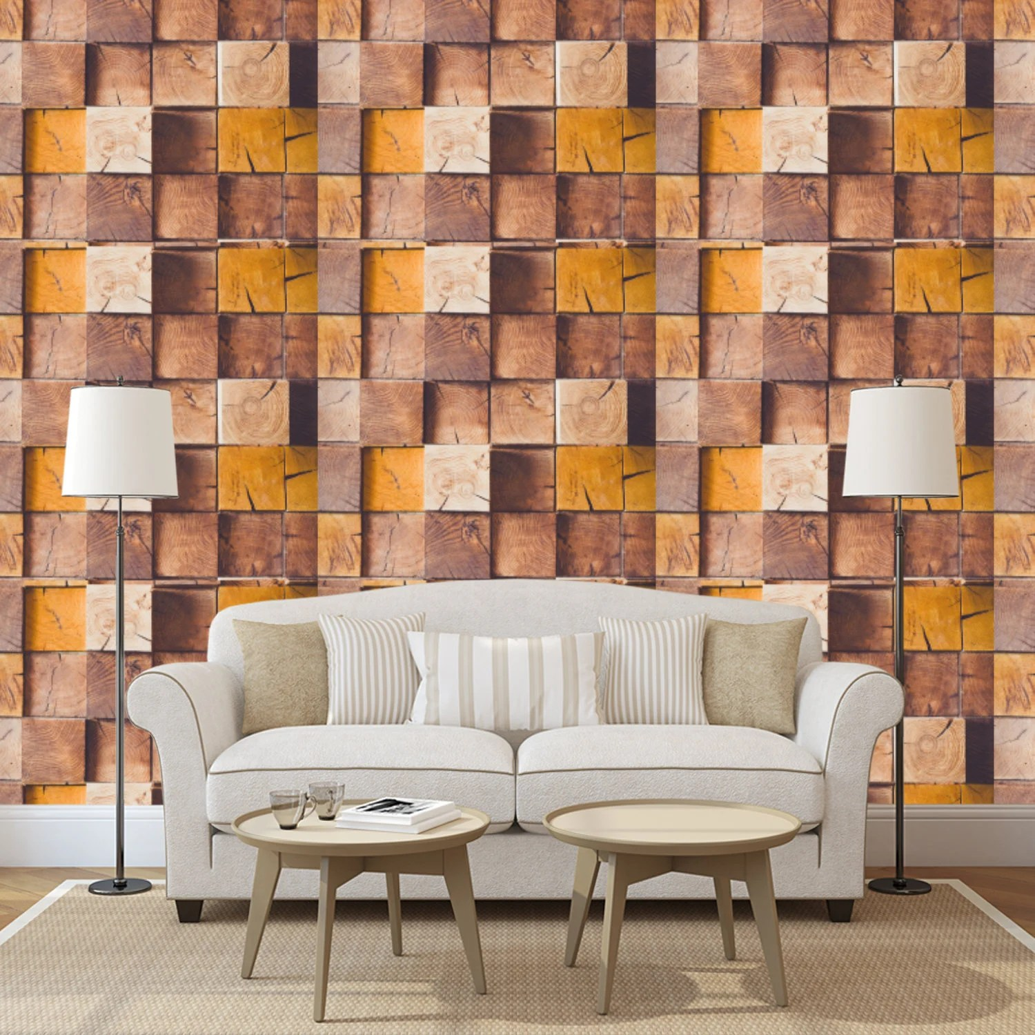 3d Wall Decor 3d Wood Wall Decor With Old Wood Blocks Wood Wallpaper Wood Wall Mural Wood Wall Covering 3d Wall Panel Removable Peel And Stick Wallpaper