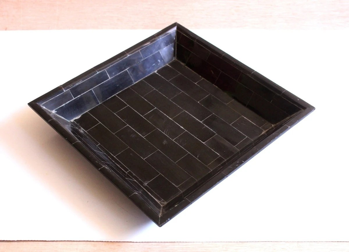 Black Serving Tray 9 76