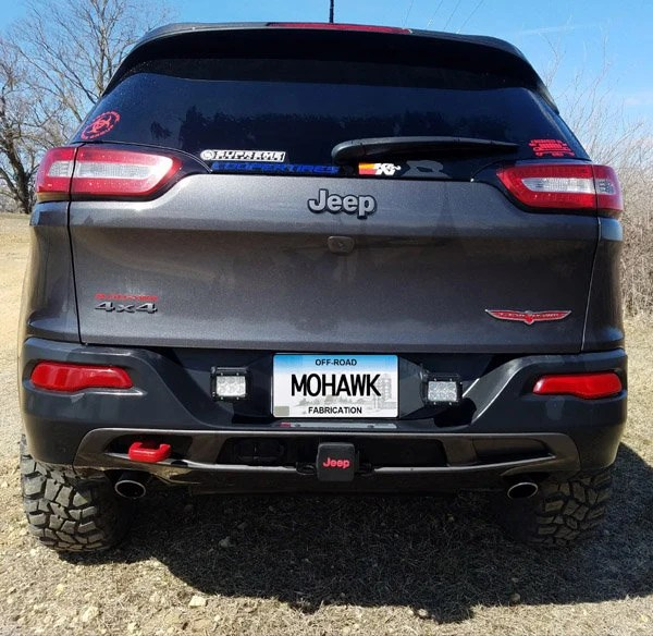 Rear Pod Light License Plate Bracket Jeep Cherokee Renegade Etsy