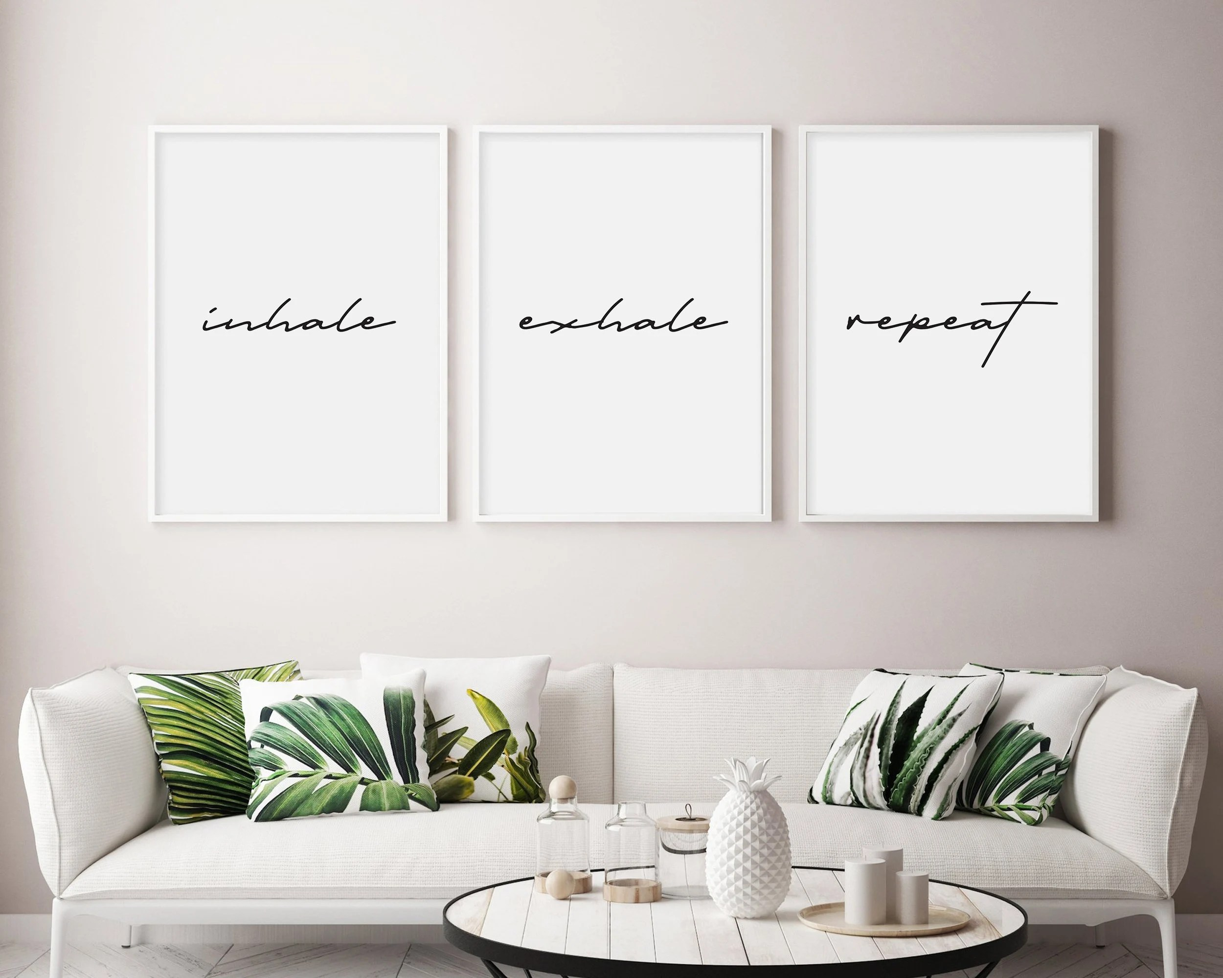 Tumblr Room Wall Decor Inhale Exhale Repeat Wall Art Inhale Exhale Repeat Print