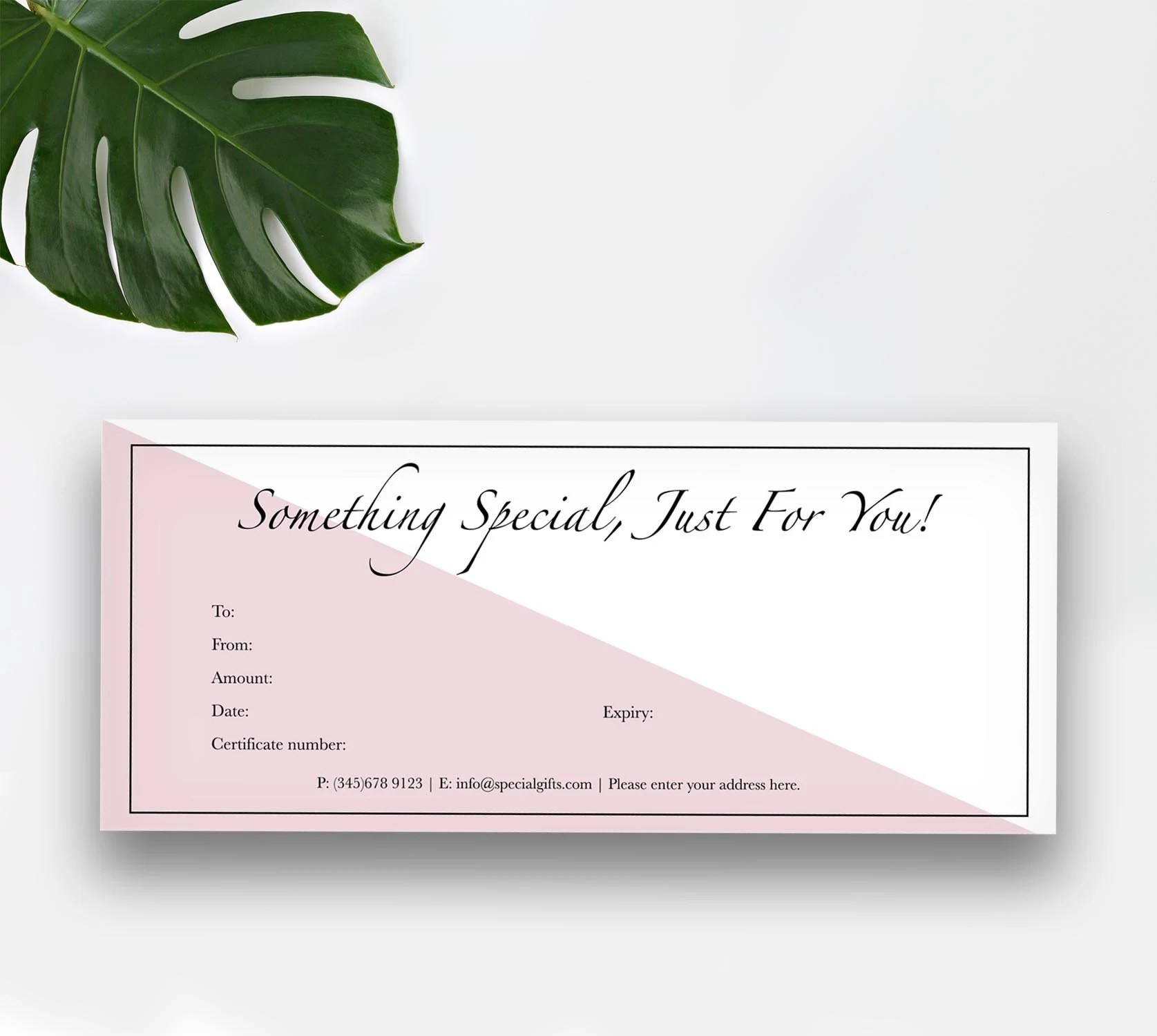 Color Block Gift Certificate Instant Downloadable Template Etsy