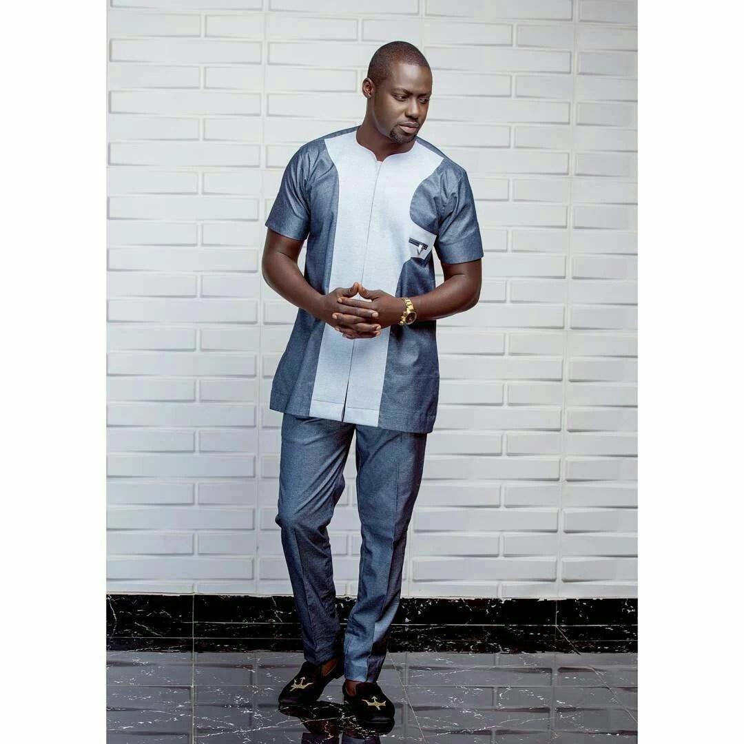 Timi African men shirt with matching pant Men clothing Men Etsy