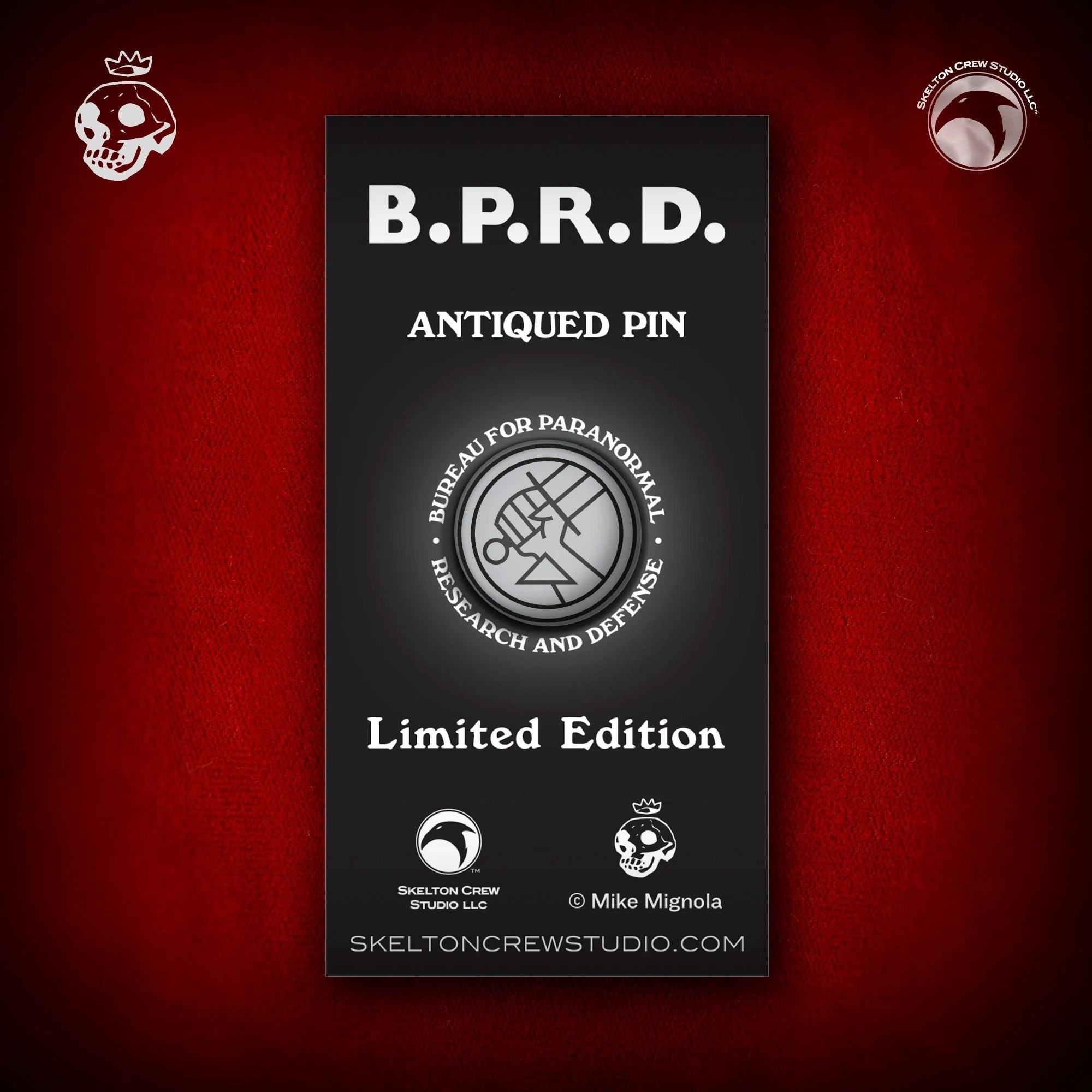 Design Bureau Llc Hellboy B P R D Limited Edition B P R D Antiqued Logo Pin