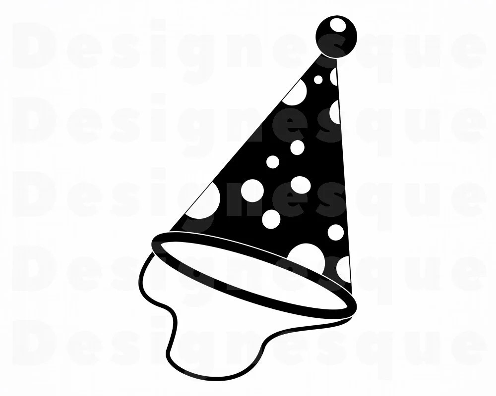 Party Hat Clipart Black And White Party Hat Svg Birthday Svg Party Hat Clipart Party Hat Files For Cricut Party Hat Cut Files For Silhouette Party Dxf Png Eps Vector