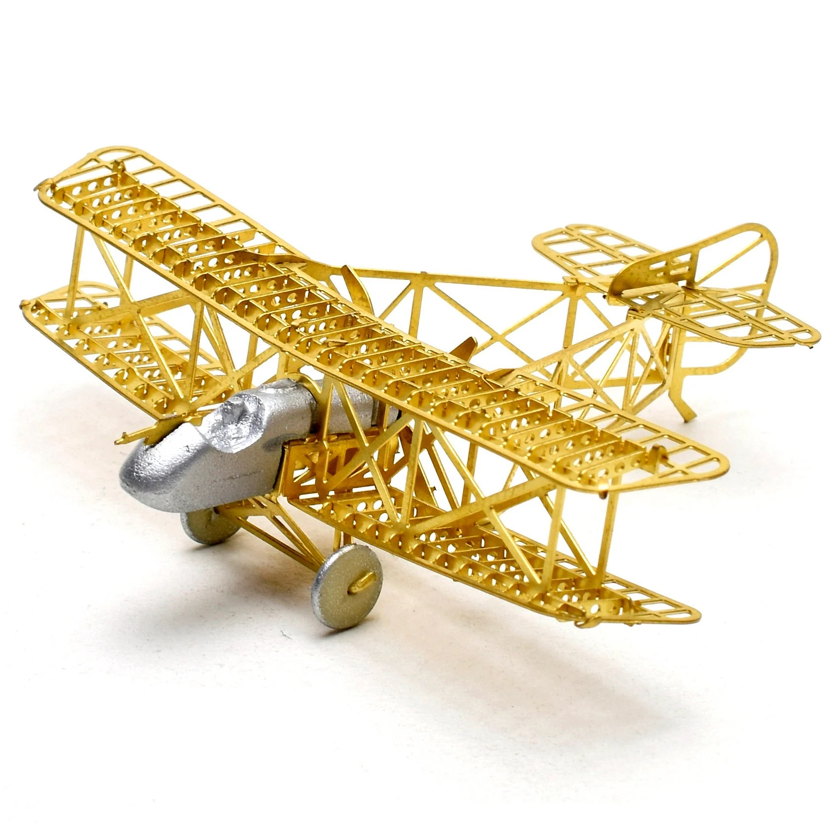 Diy Airco 1 160 Airco Dh2 Scale Brass Etched Model Kit Airplane 3d Diy Metal Puzzle Miniature Toy Hobby Splicing Science Creative Skeleton Structure
