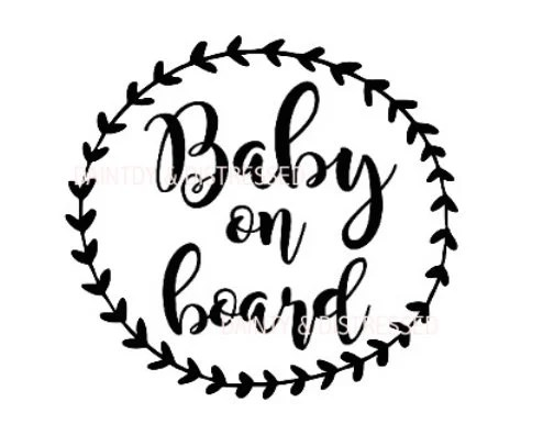 Baby on board decal stencil download png pdf jpeg SVG Etsy