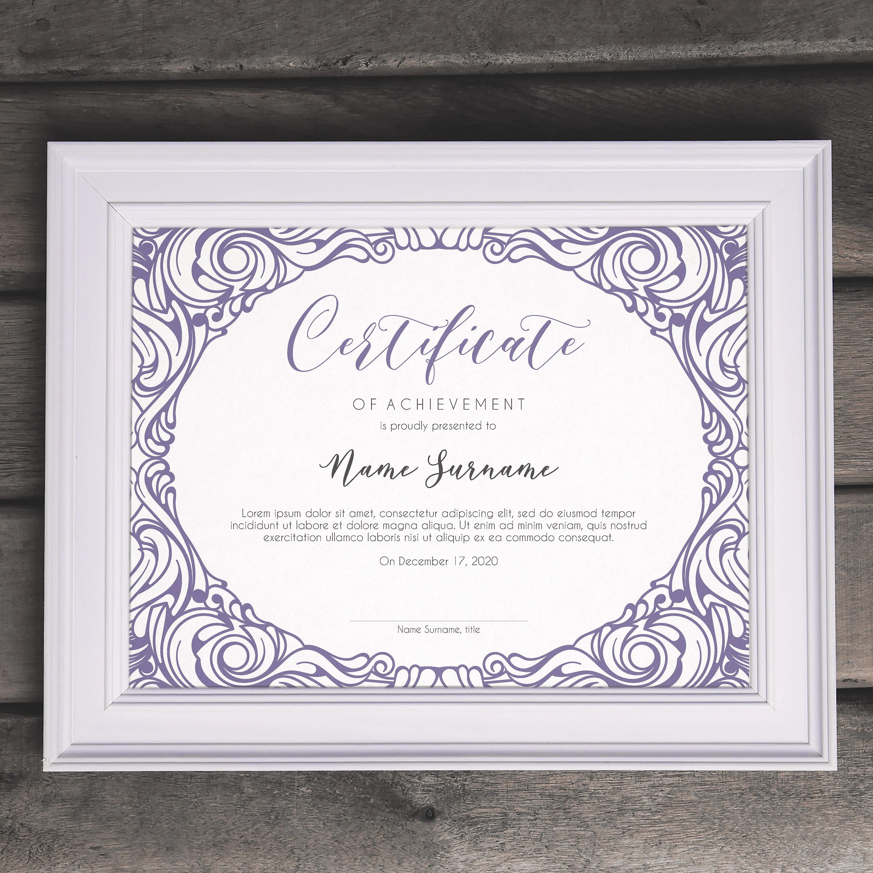 Elegant Multipurpose EDITABLE Certificate Template Editable Etsy
