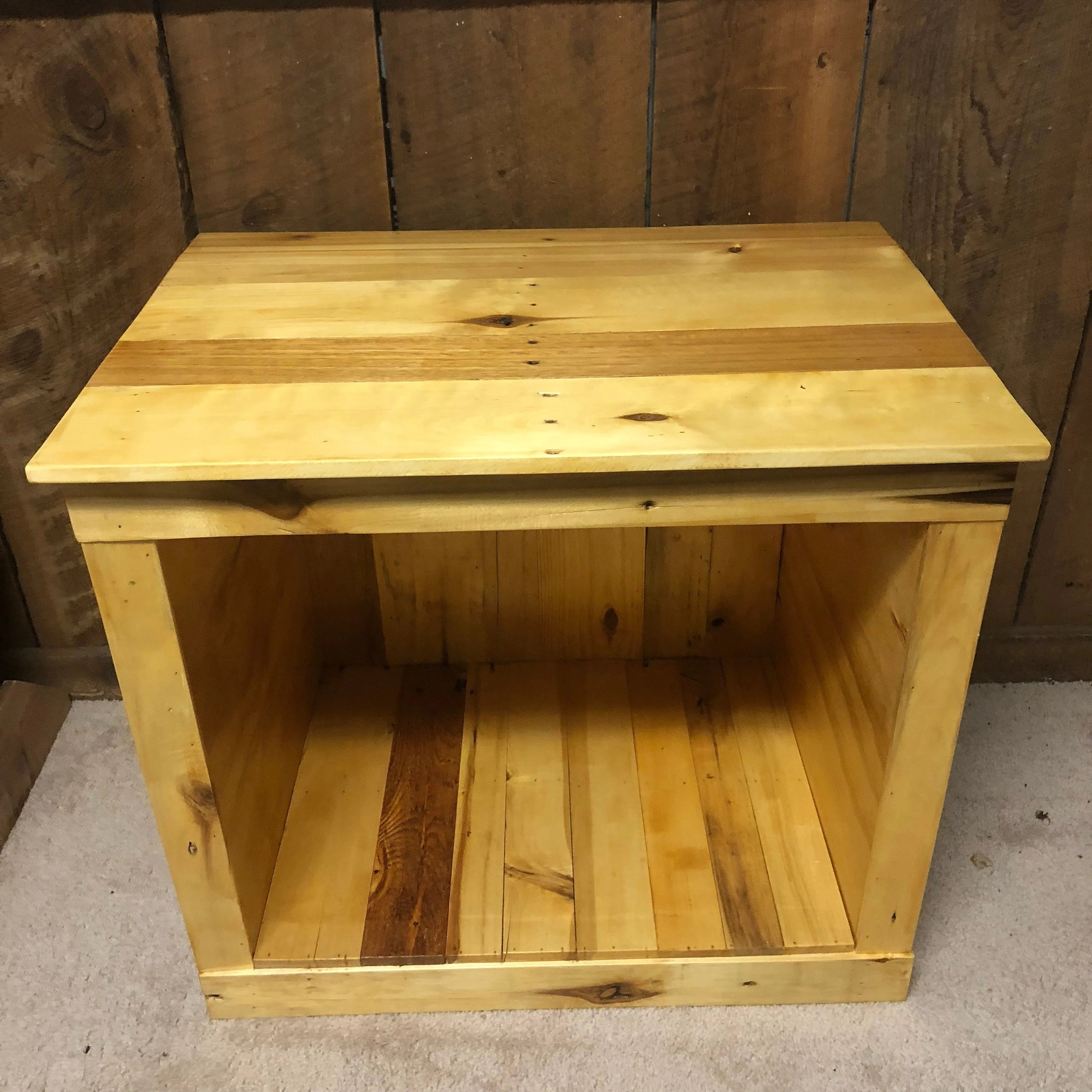 Half Inch Plywood Recycled Pallet Wood End Bedside Table