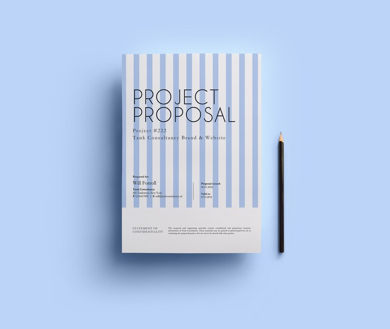 Project proposal template Small business Marketing plan Etsy