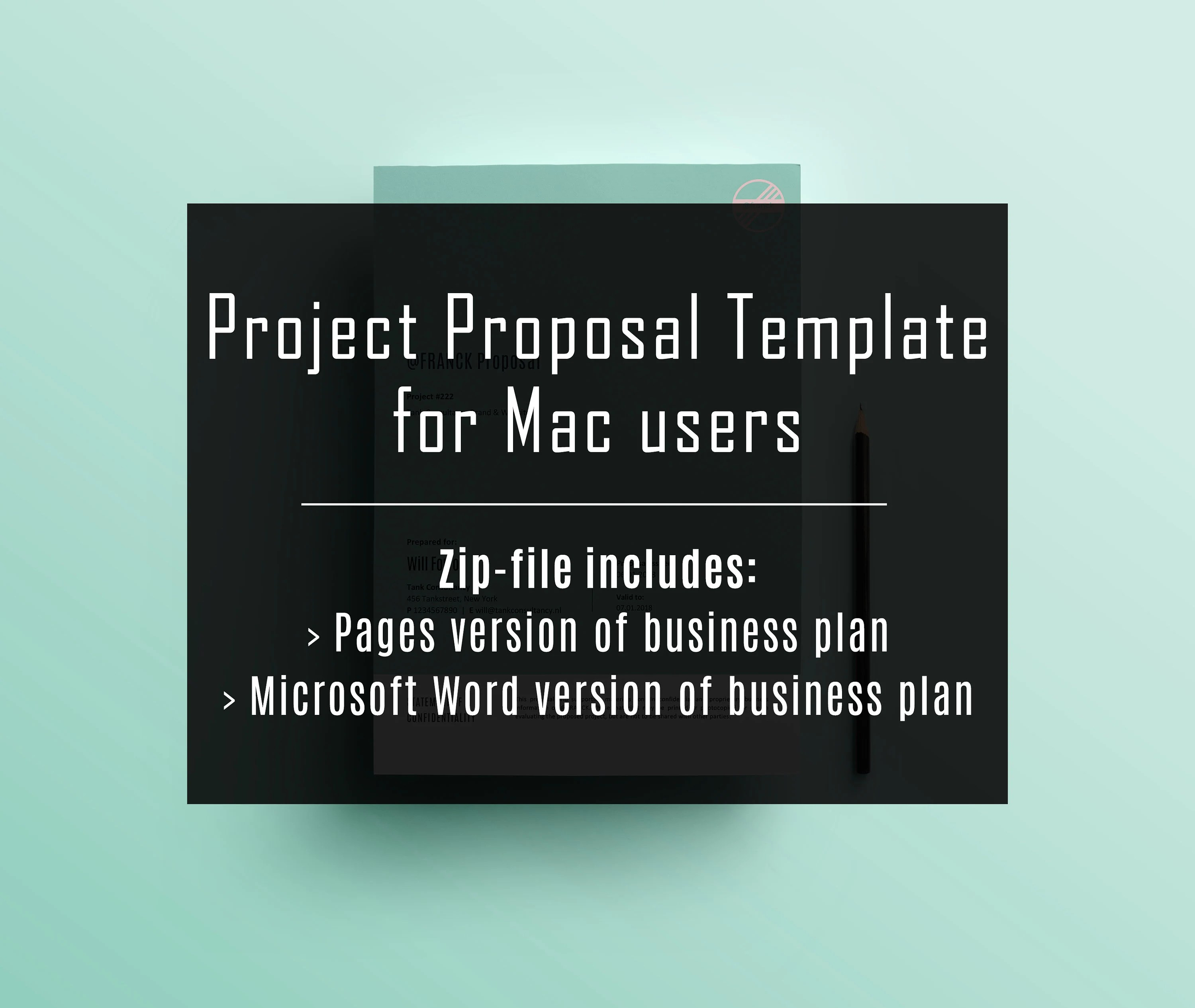 Mac Users Project proposal template Layout Pages Etsy