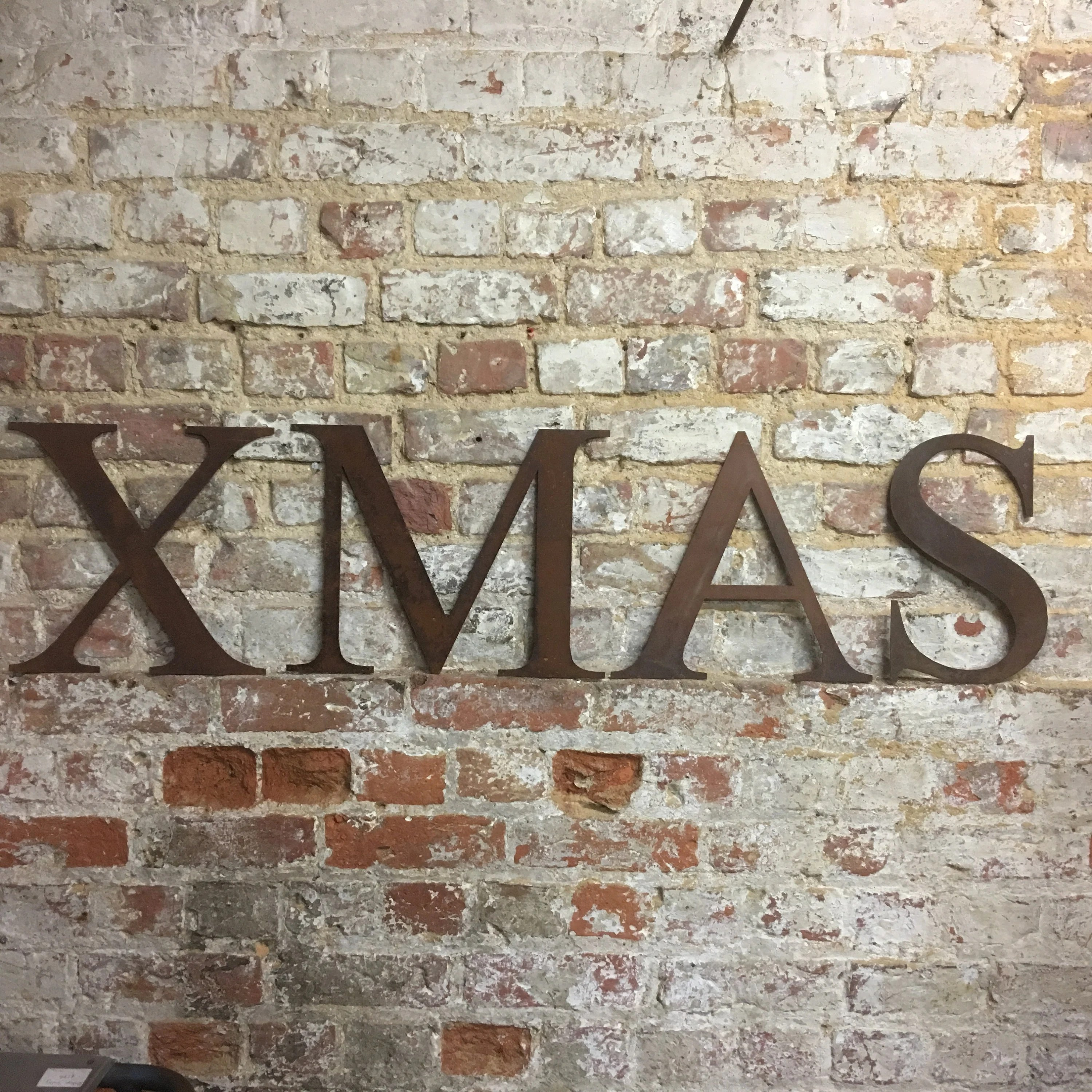 Shabby Chic Shop Rustic Xmas Letters Sign Metal Shabby Chic Christmas