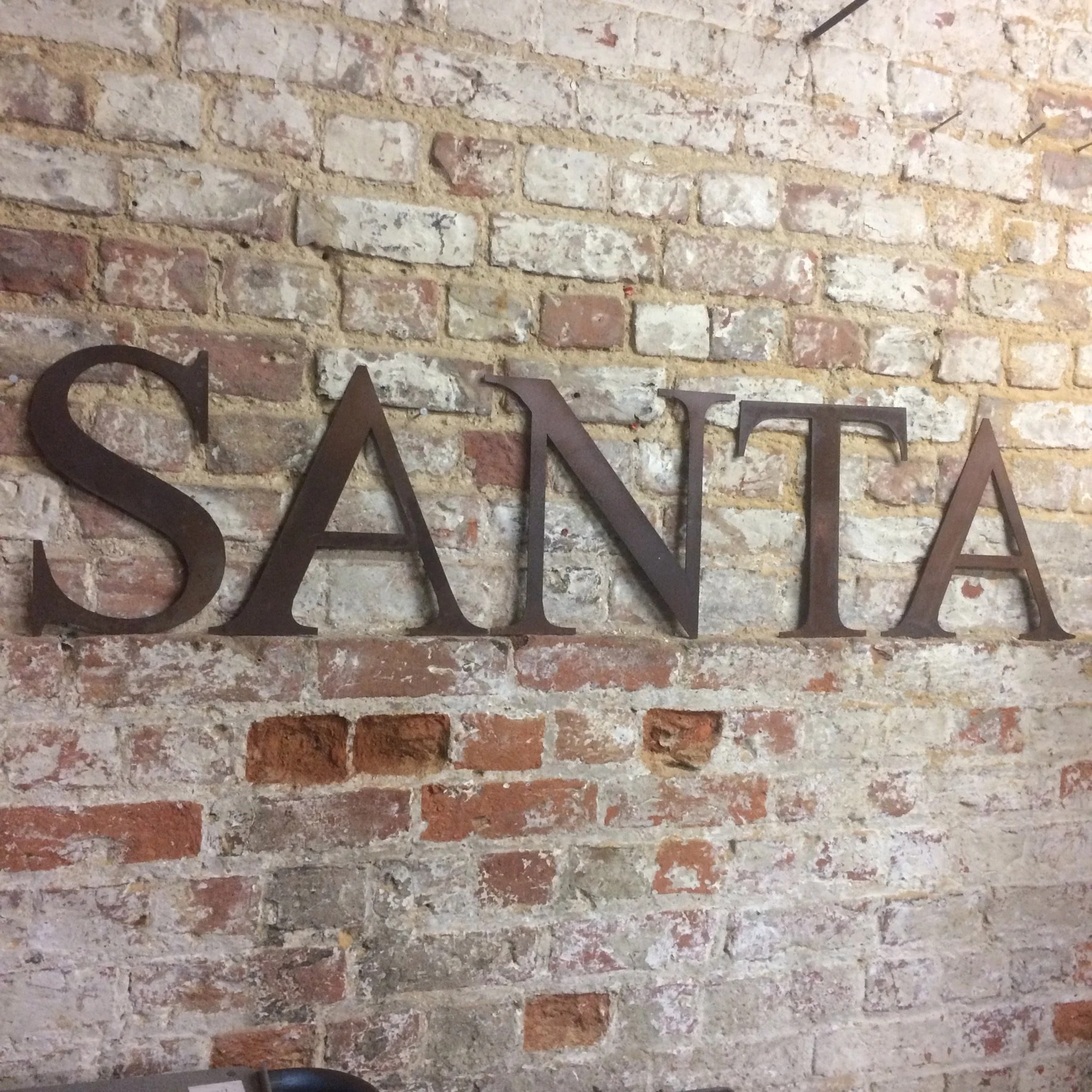 Shabby Chic Shop Rustic Santa Letters Sign Metal Shabby Chic Christmas