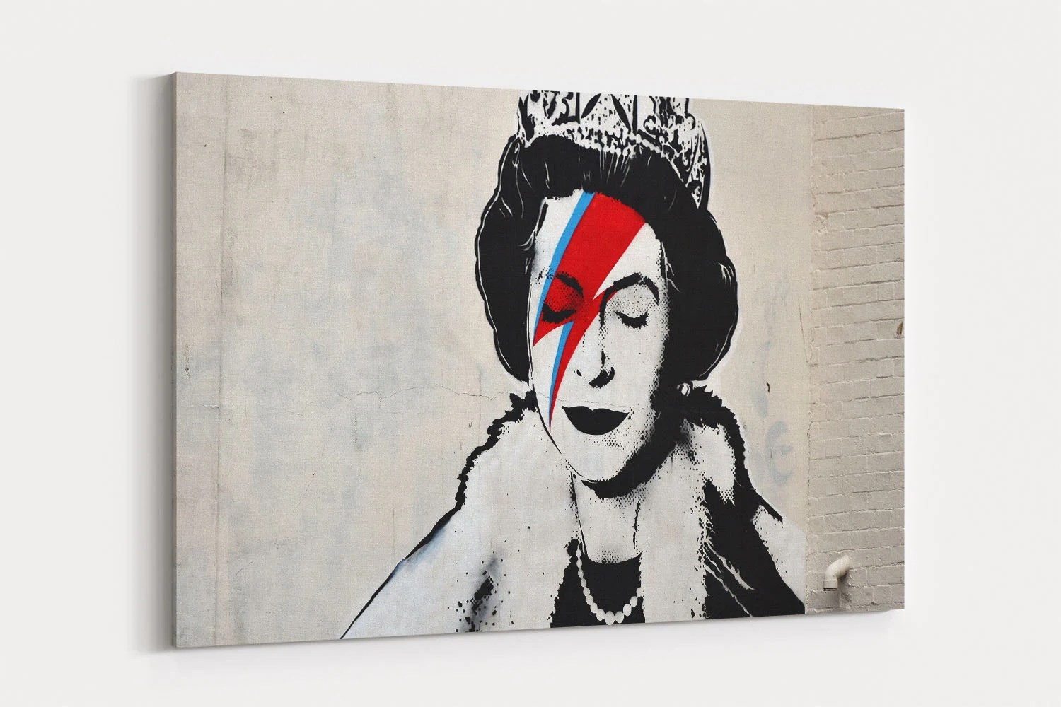 Banksy Canvas Art Queen Banksy Street Art Canvas Wall Art Banksy Graffiti Canvas Prints Canvas Art Painting Wall Decor Artwork Decal