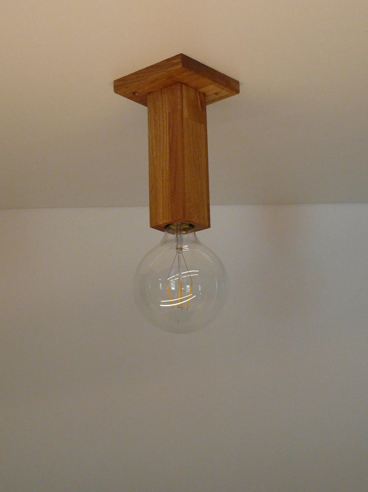 Eßtischlampe Ceiling Lamp Wood Oak Oiled With Led Lamp