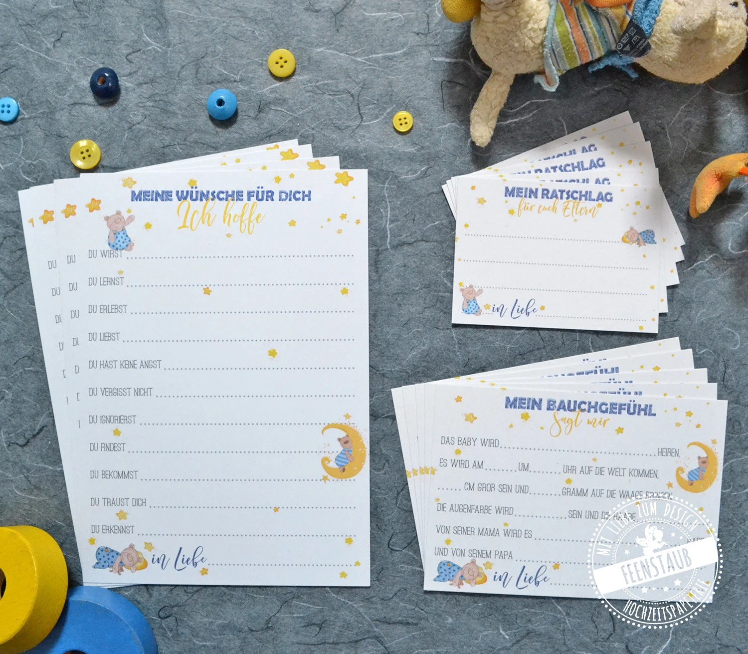 Babyshower Ideen Baby Shower Baby Shower Game Ideas Guestbook Idea Baby Album Guessing Good Wishes And Advice Boy German 3 Card Set Blue Bear