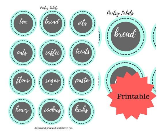 Printable Pantry Labels Food Labels Pantry Organization Etsy