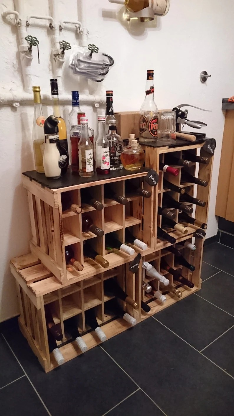 Weinregal Ideen Weinregal Weinkiste Flaschenkorb Flaschenregal Weinflasche Sektflasche Weinbar Bar Cocktailbar Regal Wine Rack