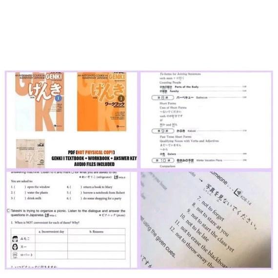 Genki 1 Japanese PDF digital bookCollection Textbook Etsy