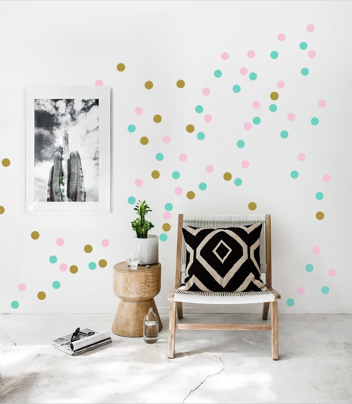 Wandfarbe Türkis Glänzend Dot Wall Decals 3 Colored 2 Polka Dots Wall Stickers Set Of 60 90 Or 120 Multicolored Confetti Dots Kidsroom Decals Round Colorful