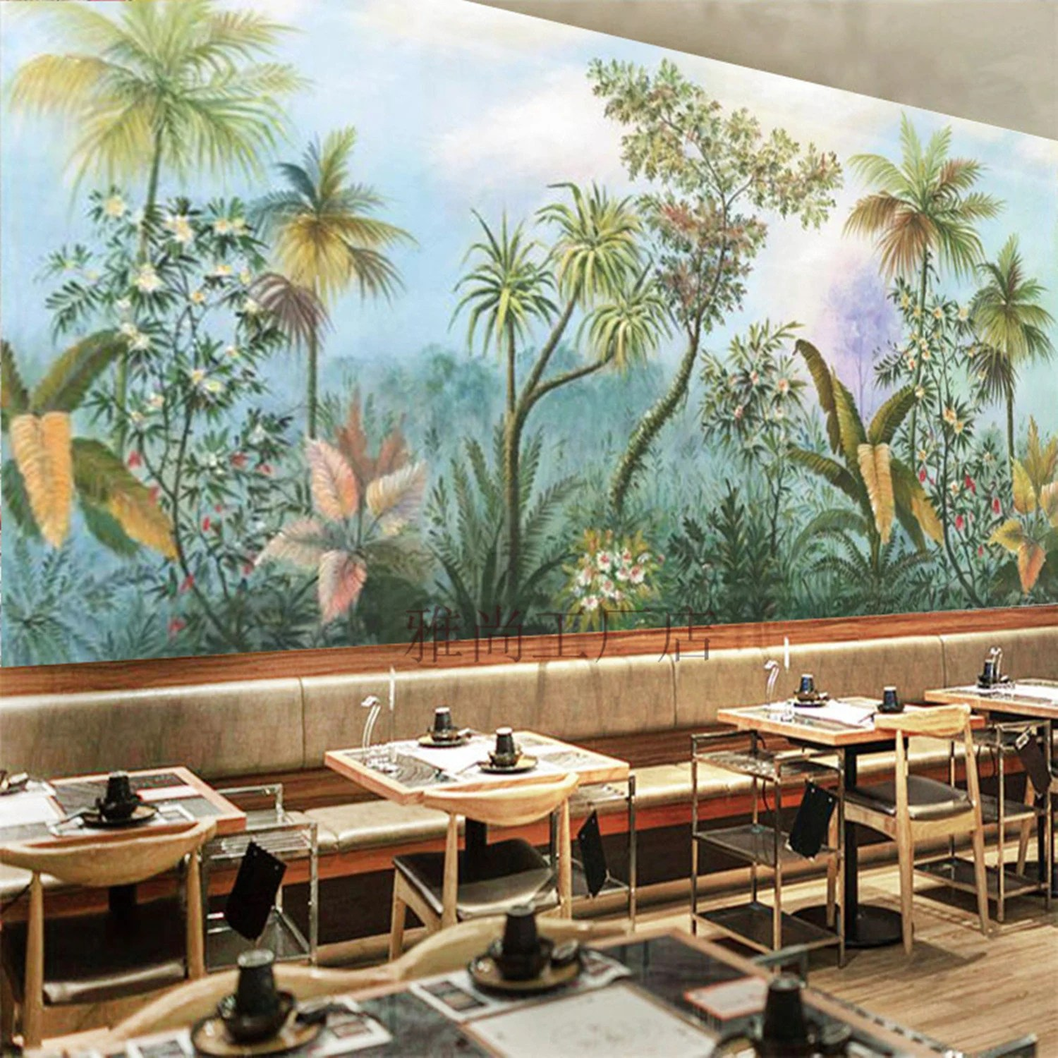 Wallpaper Murals For Bathrooms Tropical Rainforest Wallpaper Wall Mural Jungle Frorest Trees Scenic Wall Mural Living Room Bedroom Wallpaper Wall Murals
